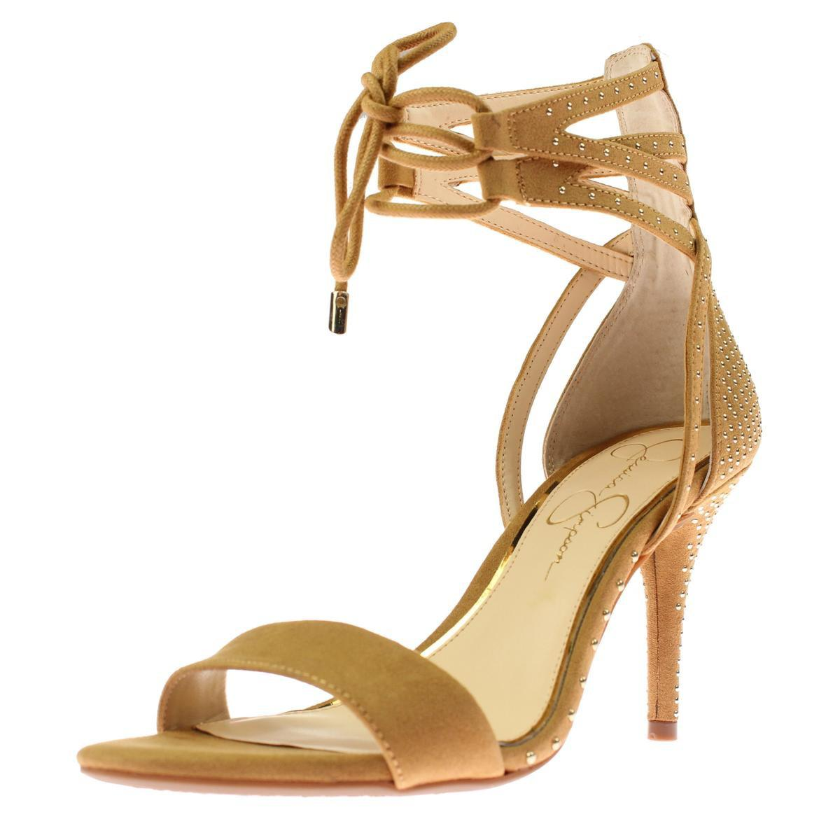 964dc380fc76 Lyst - Jessica Simpson Womens Maevi Microsuede Studded Gladiator ...