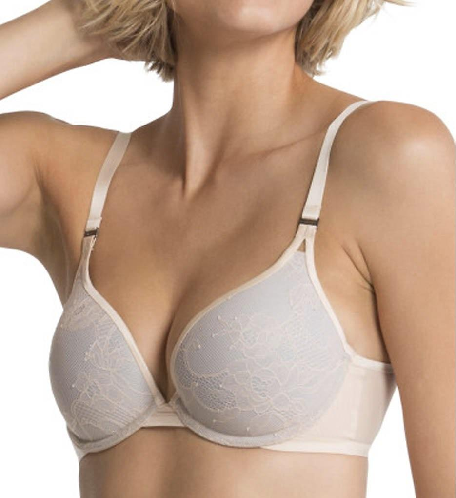 d23e0dd401 Lyst - Spanx Sf0815 Pillow Cup Lace Push-up Plunge Bra in Natural