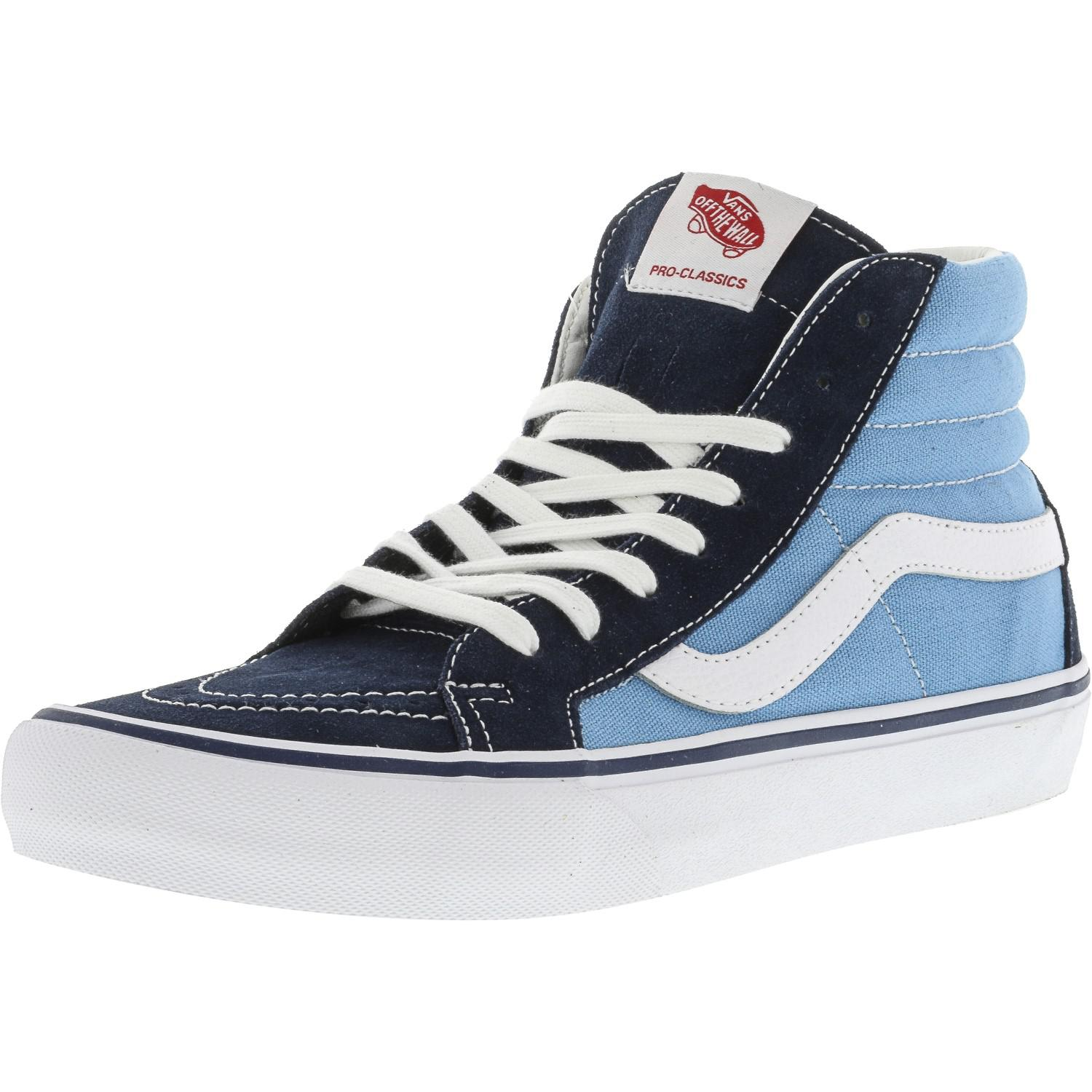 e2859cce1409df Lyst - Vans Sk8-hi Pro 50th 86 Navy   White Ankle-high Canvas ...