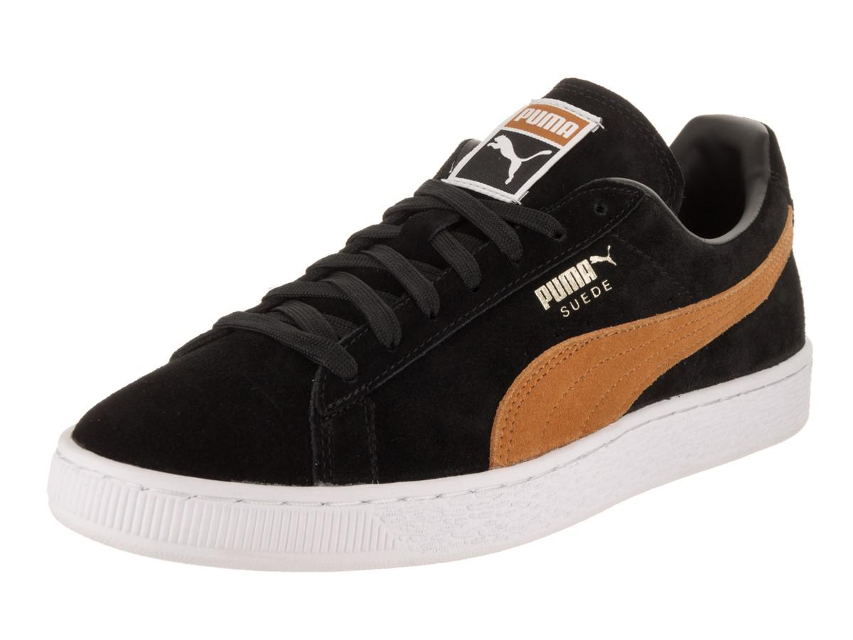 49488ab5c45b11 Lyst - PUMA Suede Classic + Black Inca Gold Casual Shoe 4 Men Us in ...
