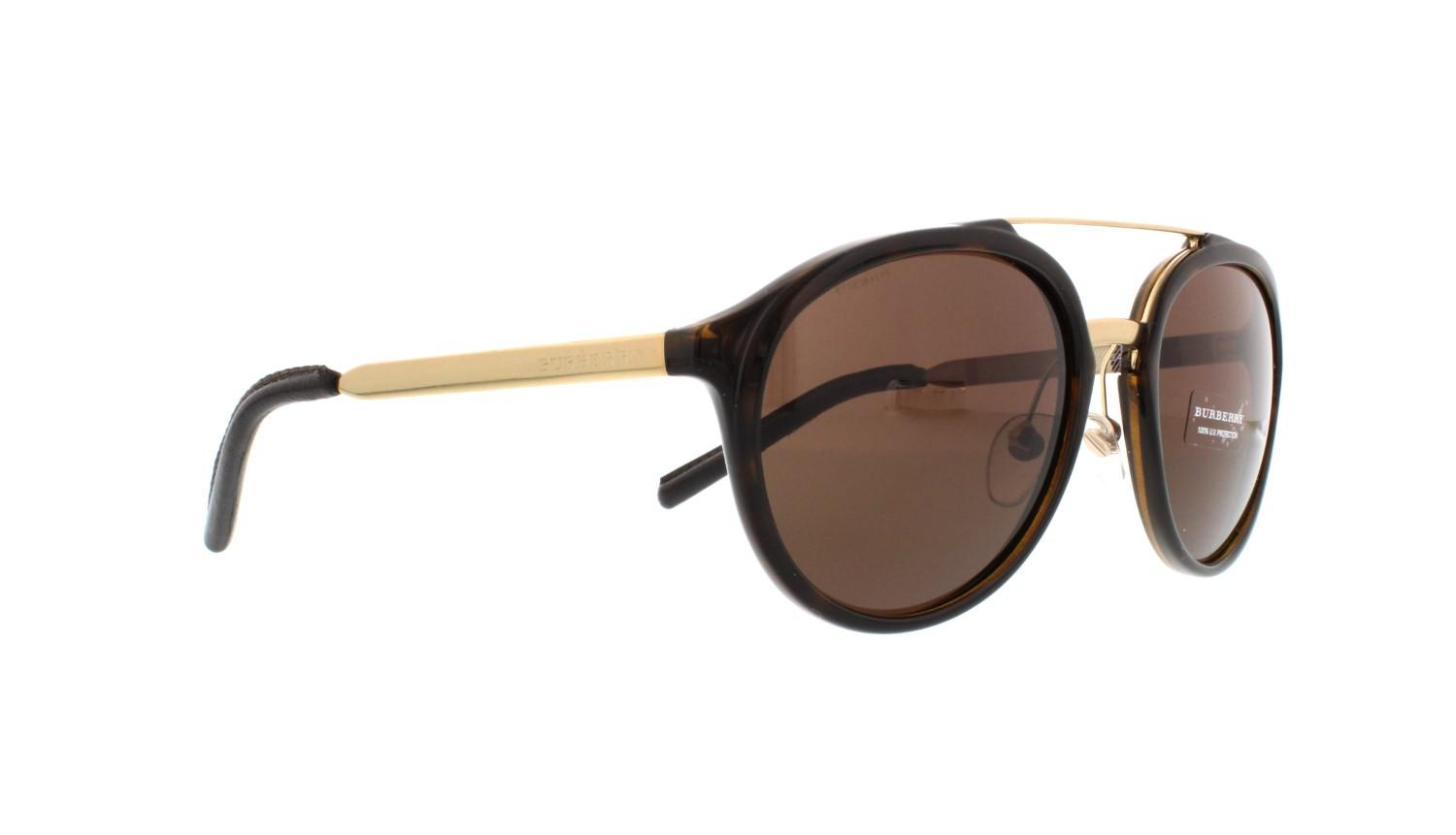 d68a75d2a6b4 Lyst - Burberry Be 4168q 3002 73 Pilot Sunglasses Tortoise brown ...