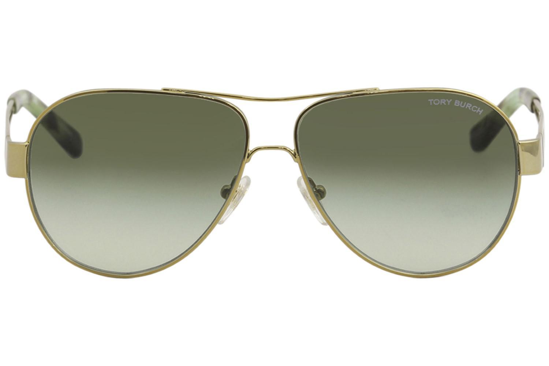 71385a95ea Tory Burch - Multicolor Ty6060 Ty 6060 3041 8e Gold Fashion Pilot Sunglasses  55mm. View Fullscreen