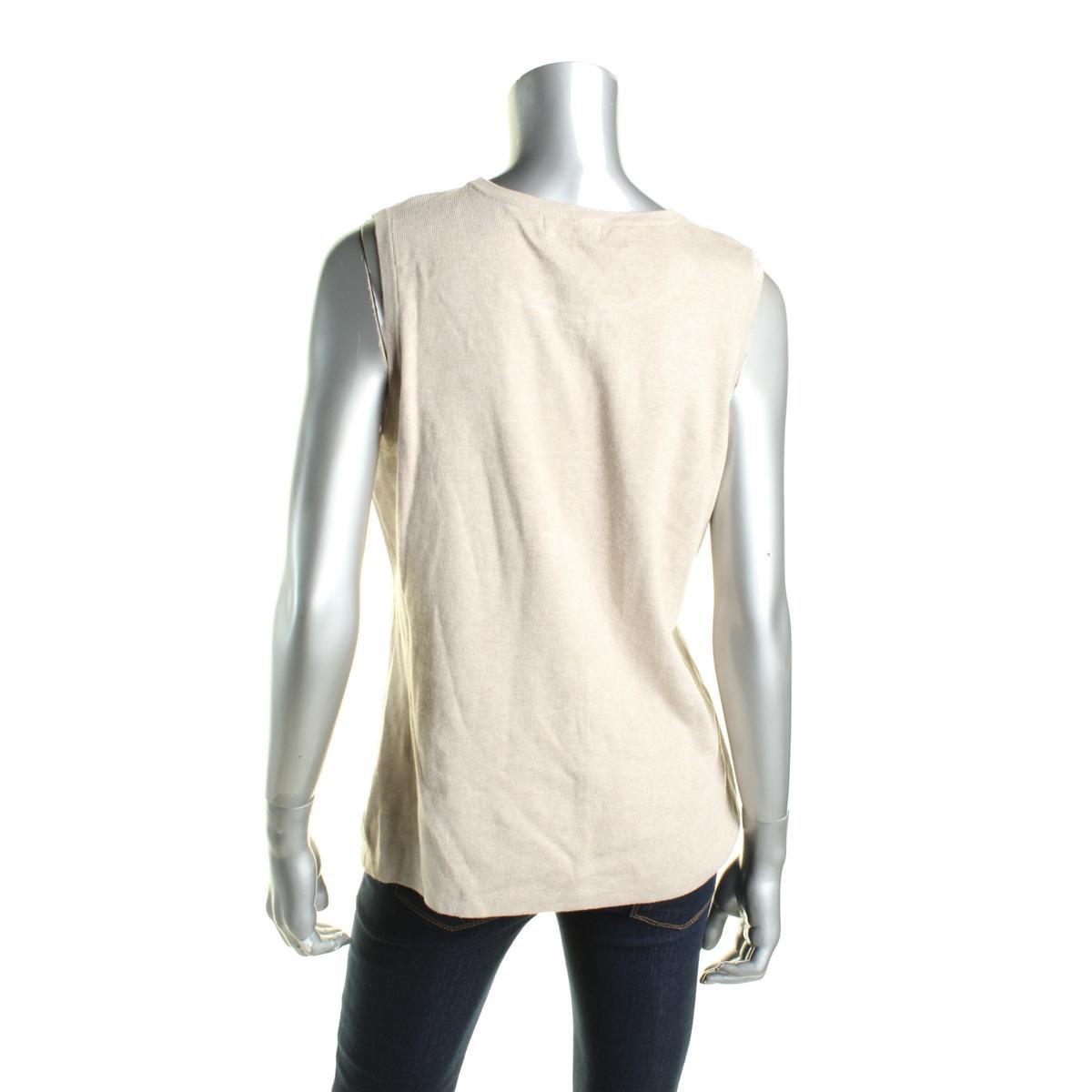 Lyst - Calvin Klein Mixed Media Faux Suede Inset Tank Top Sweater in ... b90afa0d7