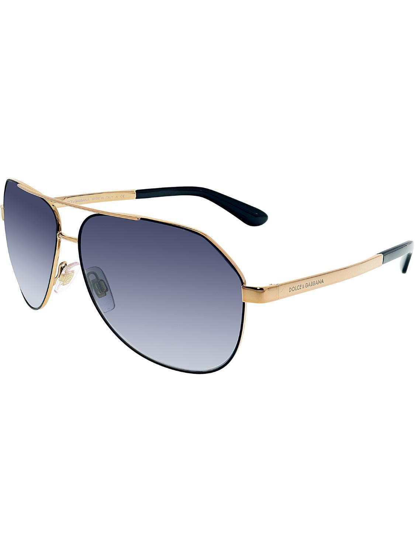 7071b43342f4 Lyst - Dolce   Gabbana Aviator Dg2144-12968g-61 Gold Oval Sunglasses ...