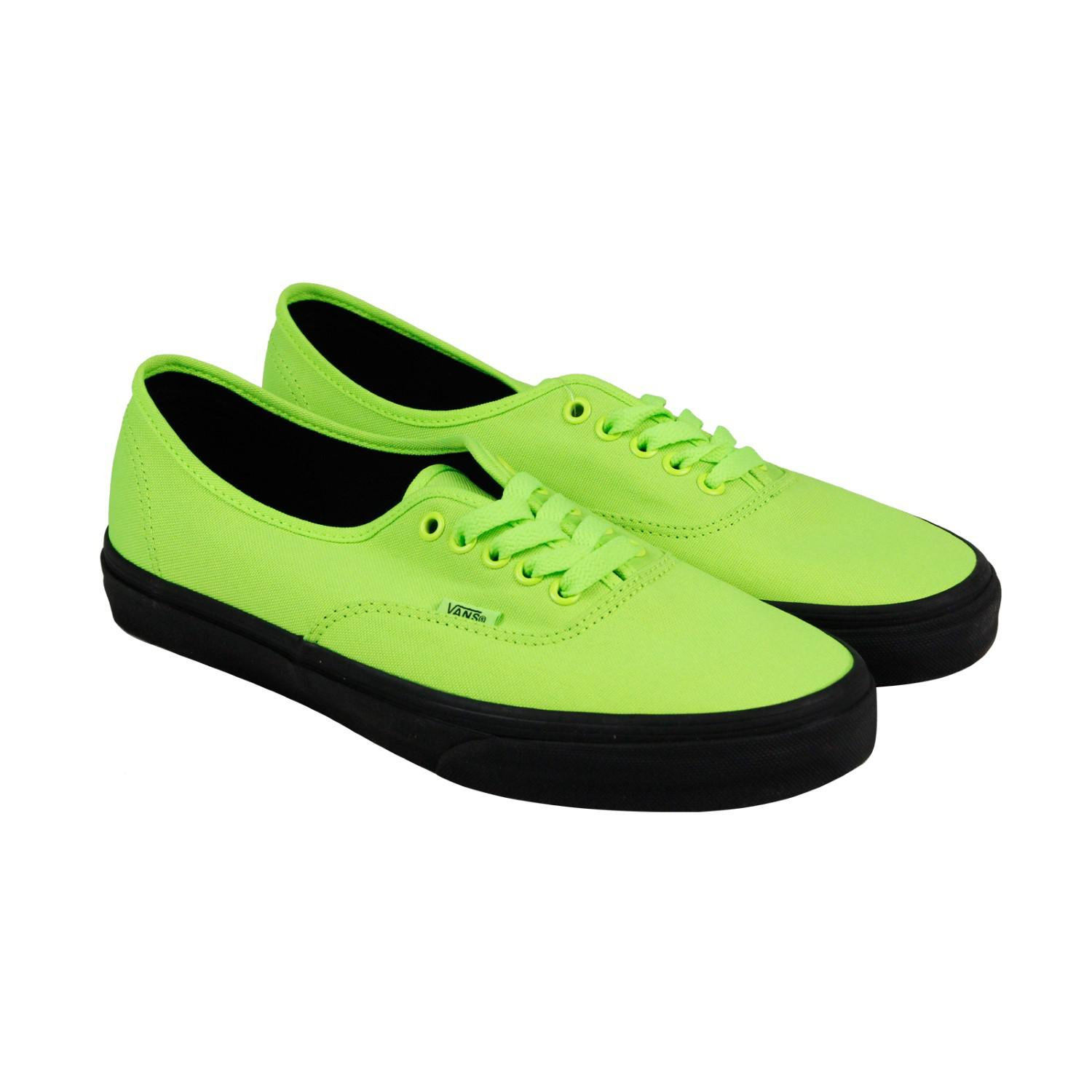 Lyst - Vans Authentic Neon Green Bk Mens Lace Up Sneakers in Green ... 99a2410dd