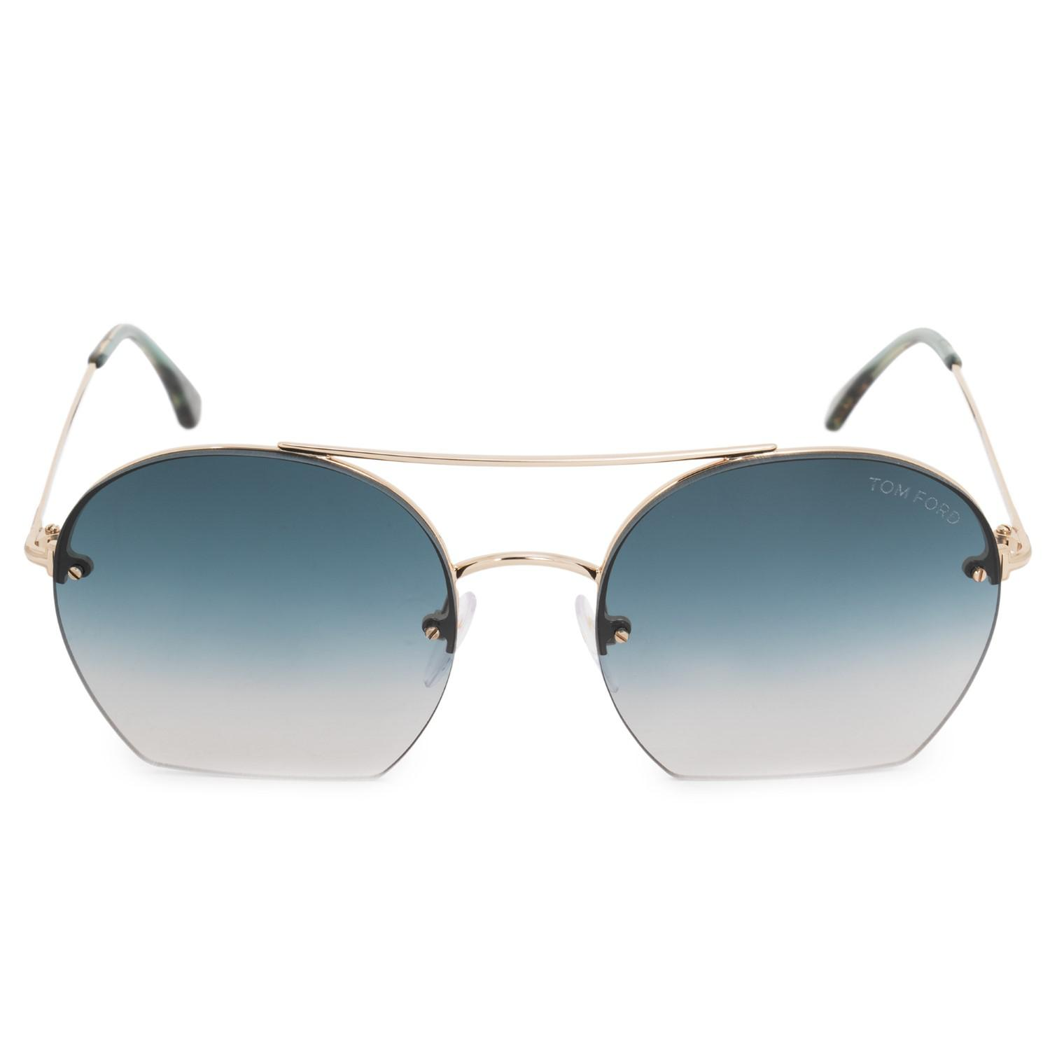 c056fe1053 Lyst - Tom Ford Antonia Tf506 Tf 506 28w Fashion Pilot Sunglasses 55mm