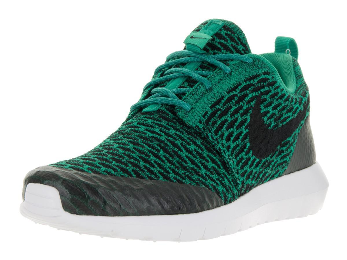f8c923920bc6 Lyst - Nike Roshe Nm Flyknit Se Lucid Green black white Running Shoe ...
