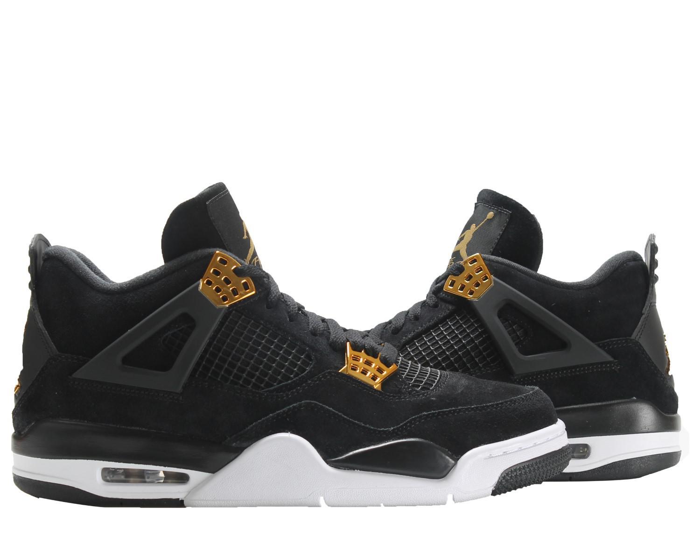 a83f37c59c01f7 Lyst - Nike Air Jordan 4 Retro Black gold-white Basketball Shoes ...