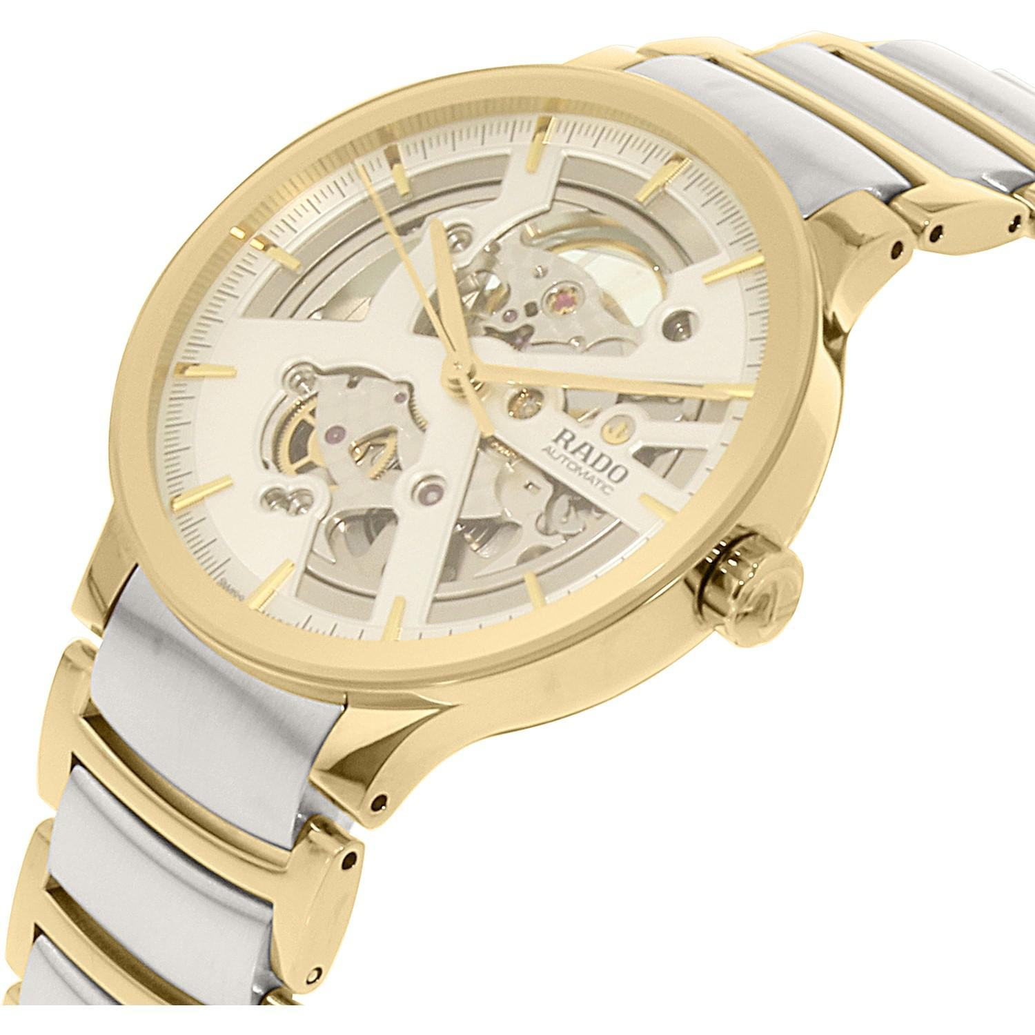 Lyst Rado Centrix Automatic Silver Skeleton Dial Two Tone Watch Fossil Me3138 Grant Sport Black Leather Gallery