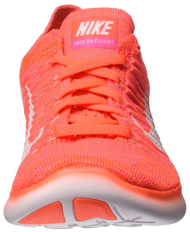 c4675cf5d2d0 Lyst - Nike Womens Free Rn Flyknit 831070 801 Hyper Orange  White in ...