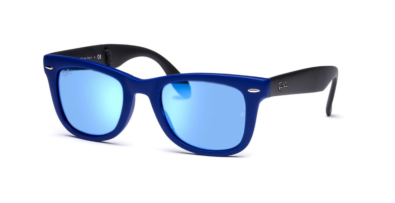 60ecd3d6de Lyst - Ray-Ban 0rb4105 602017 54 Matte Blue crystal Green Mirror ...
