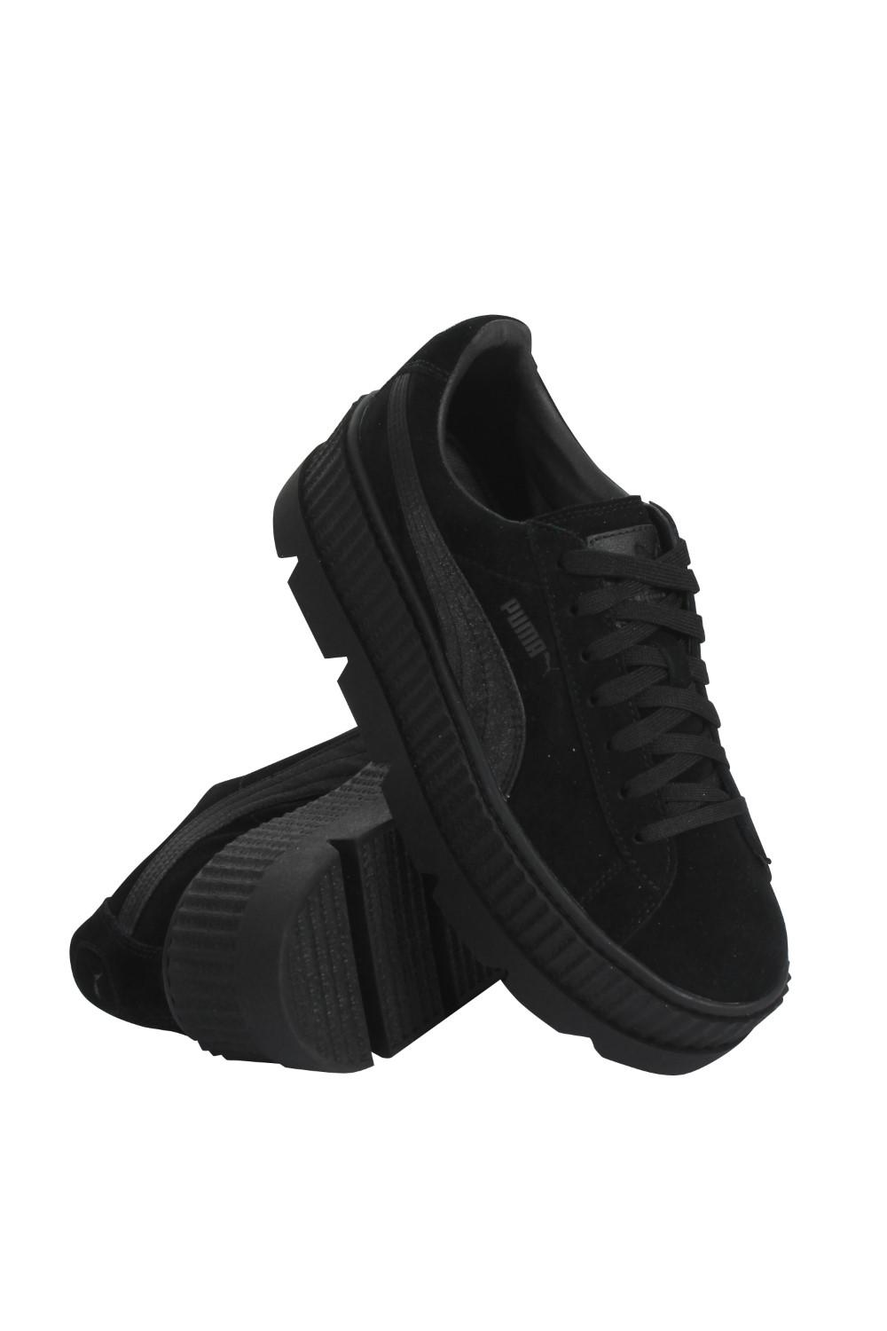 d10b700986a208 ... newest 0bf4e 6d2f6 Lyst - Puma X Fenty Cleated Creeper Suede in Black  ...
