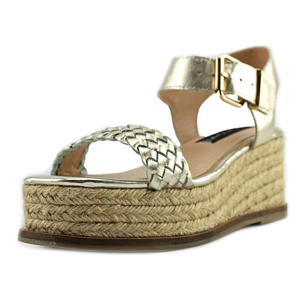 7010951e11f Lyst - Steve Madden Steven Sabble Women Us 7 Gold Platform Sandal in ...