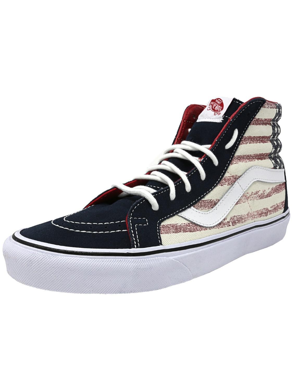 Lyst - Vans Unisex Sk8-hi Reissue Americana Sneakers Dressblues M6 ... 4fd719dd5