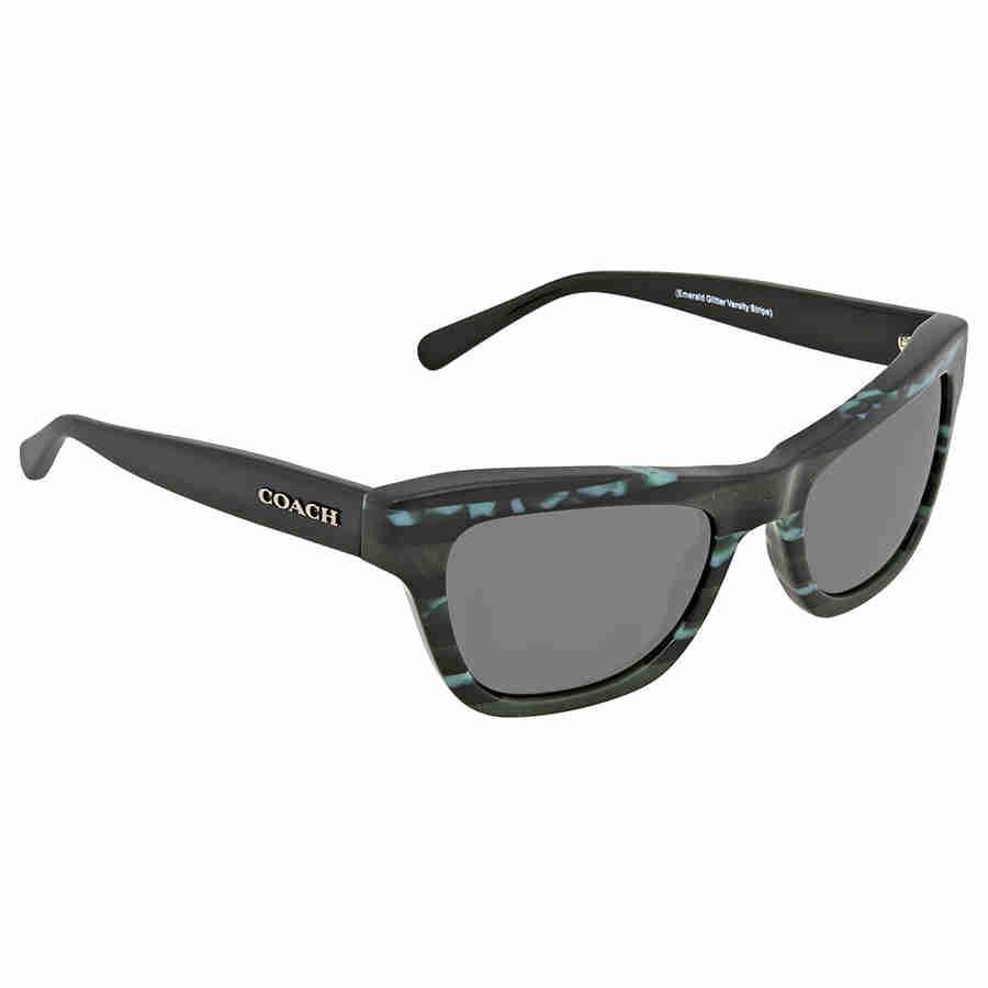55799d498a Lyst - Coach Grey Rectangular Sunglasses Hc8223 547687 53 in Gray