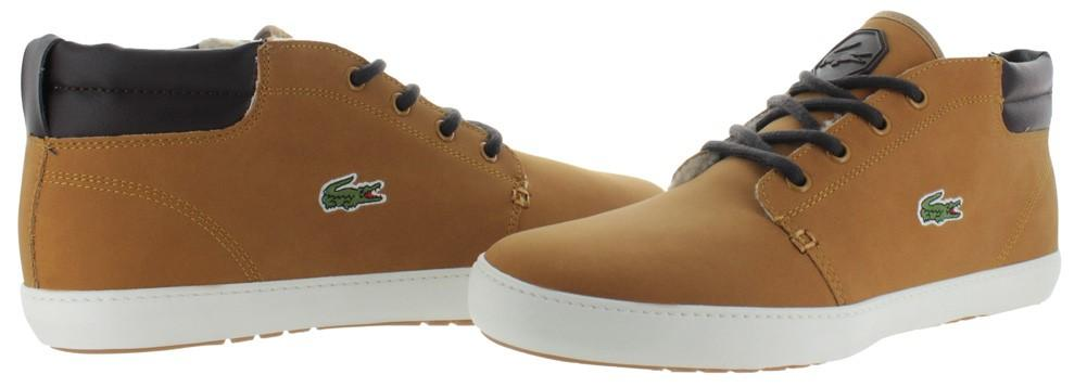 9b7221ad2 Lacoste - Brown Ampthill Terra Put Fur Mid Top Sneakers Shoes for Men -  Lyst. View fullscreen