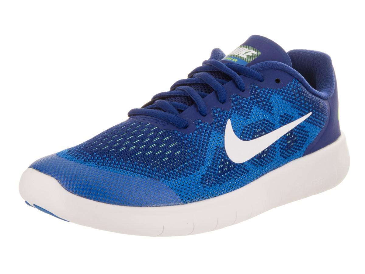 35f45f51b84c9 Lyst - Nike Kids Free Rn 2017 (gs) Deep Royal Blue white Soar ...