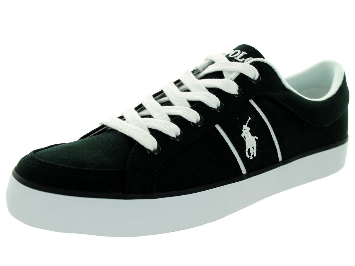 Lyst - Polo Ralph Lauren Bolingbrook Black white Casual Shoe 9 Men ... c6e022e36c