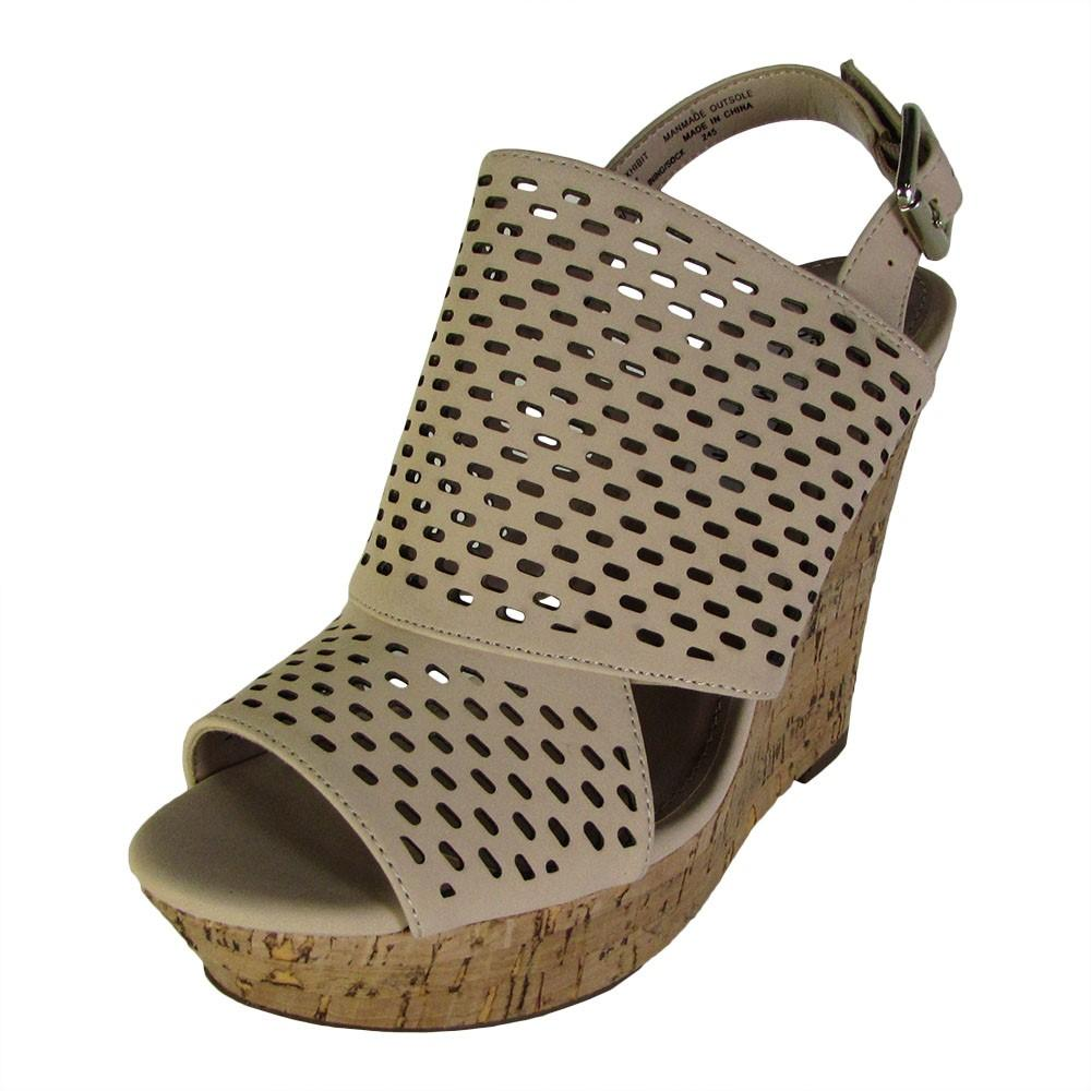 fa793f6abe73 Lyst - Steve Madden Womens Exhibit Slingback Platform Wedge Shoes in ...