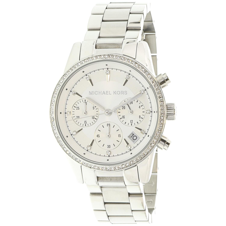 9adf356c2e86 Lyst - Michael Kors Ritz Chronograph White Dial Ladies Watch Mk6428 ...