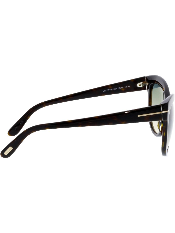 2180daf08f3 Tom Ford - Brown Ft0430 Lily Cateye Sunglasses - Lyst. View fullscreen
