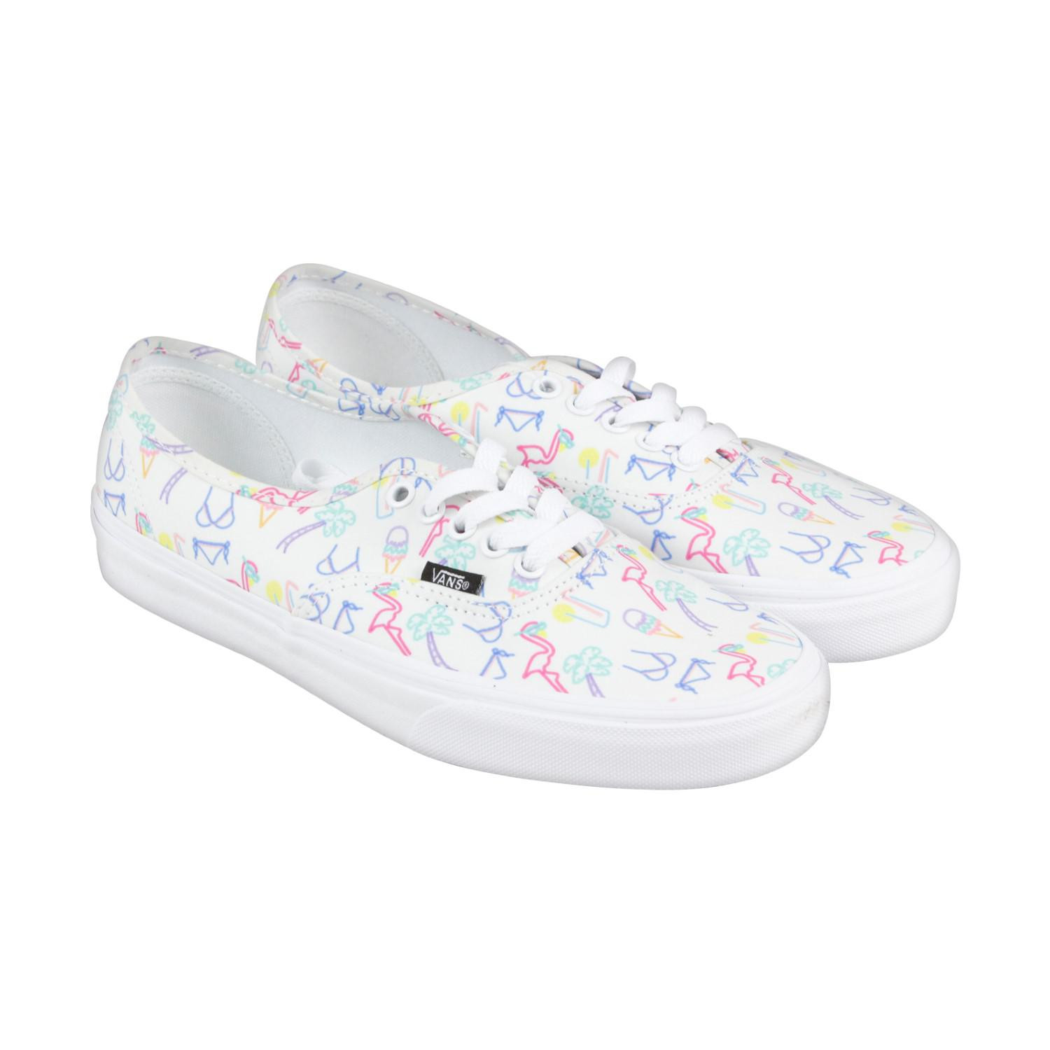 ae0a0ca02fb128 Lyst - Vans Authentic Neon Lights Tropical True White Mens Lace Up ...