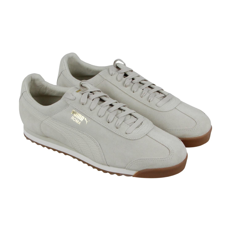 754e8db6710b0e Lyst - PUMA Roma Natural Warmth Birch Whisper White Lace Up Sneakers ...