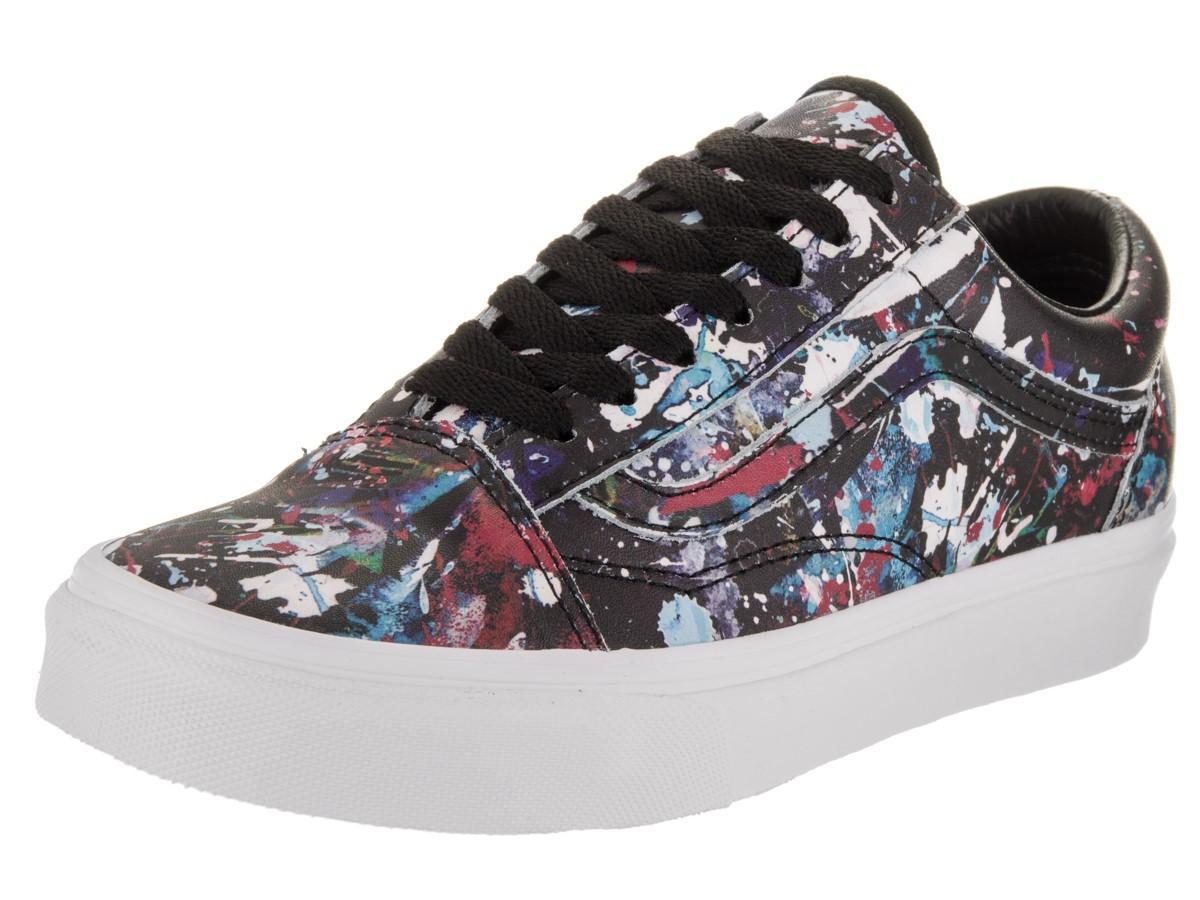 2609420f8d Lyst - Vans Unisex Old Skool (paint Splatter) Blk trwht Skate Shoe ...