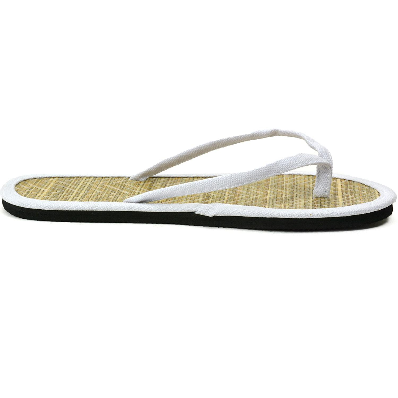 cf40b522b1eb9 Alpine Swiss - White Bamboo Sandals Comfort Flats Summer Shoes Flip Flop  Thongs - Lyst