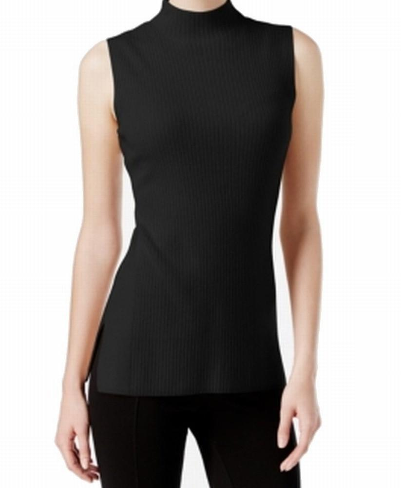 1a26508891c1a Lyst - Calvin Klein Ribbed Knit Sleeveless Mock Turtleneck Sweater ...