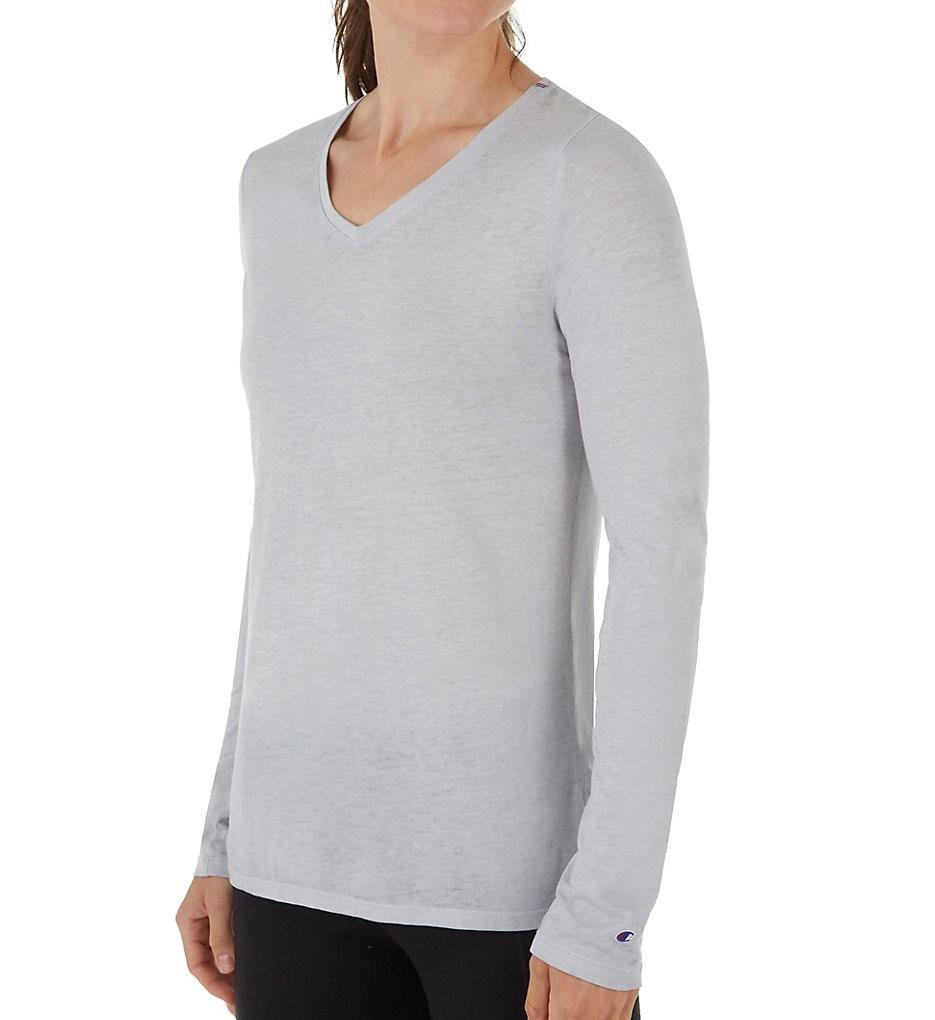 5fbe0f15c Lyst - Champion W3138 Authentic Wash Long Sleeve Tee in Gray