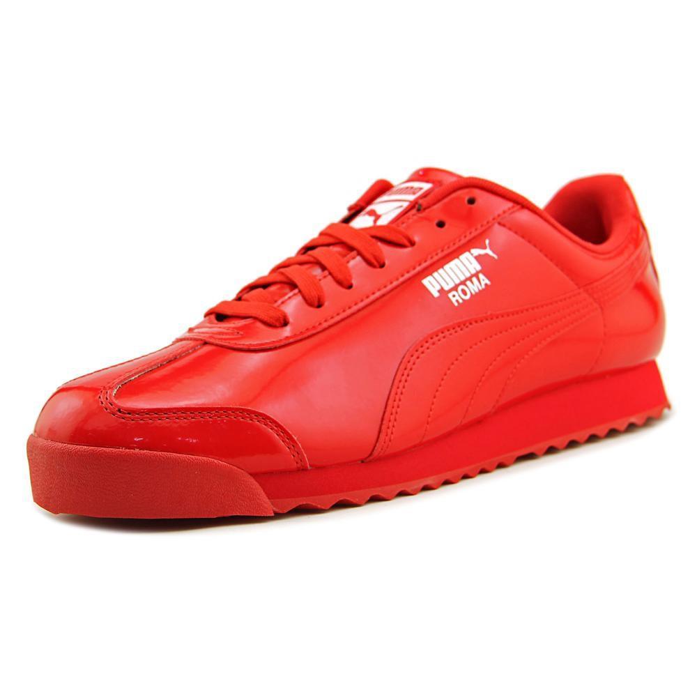 PUMA. Roma Patent Men Us 11 Red Sneakers
