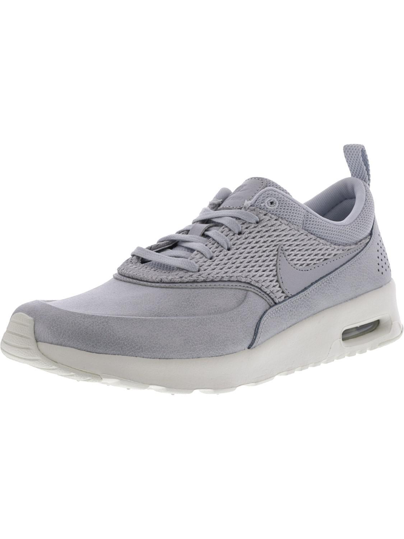 Lyst Nike Air Max Thea Prm Leather Metallic Platinum