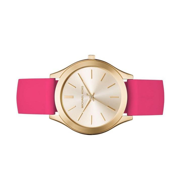 802225b6d392 Michael Kors - Slim Runway Sporty Pink Silicone Strap Watch Mk2510 - Lyst.  View fullscreen