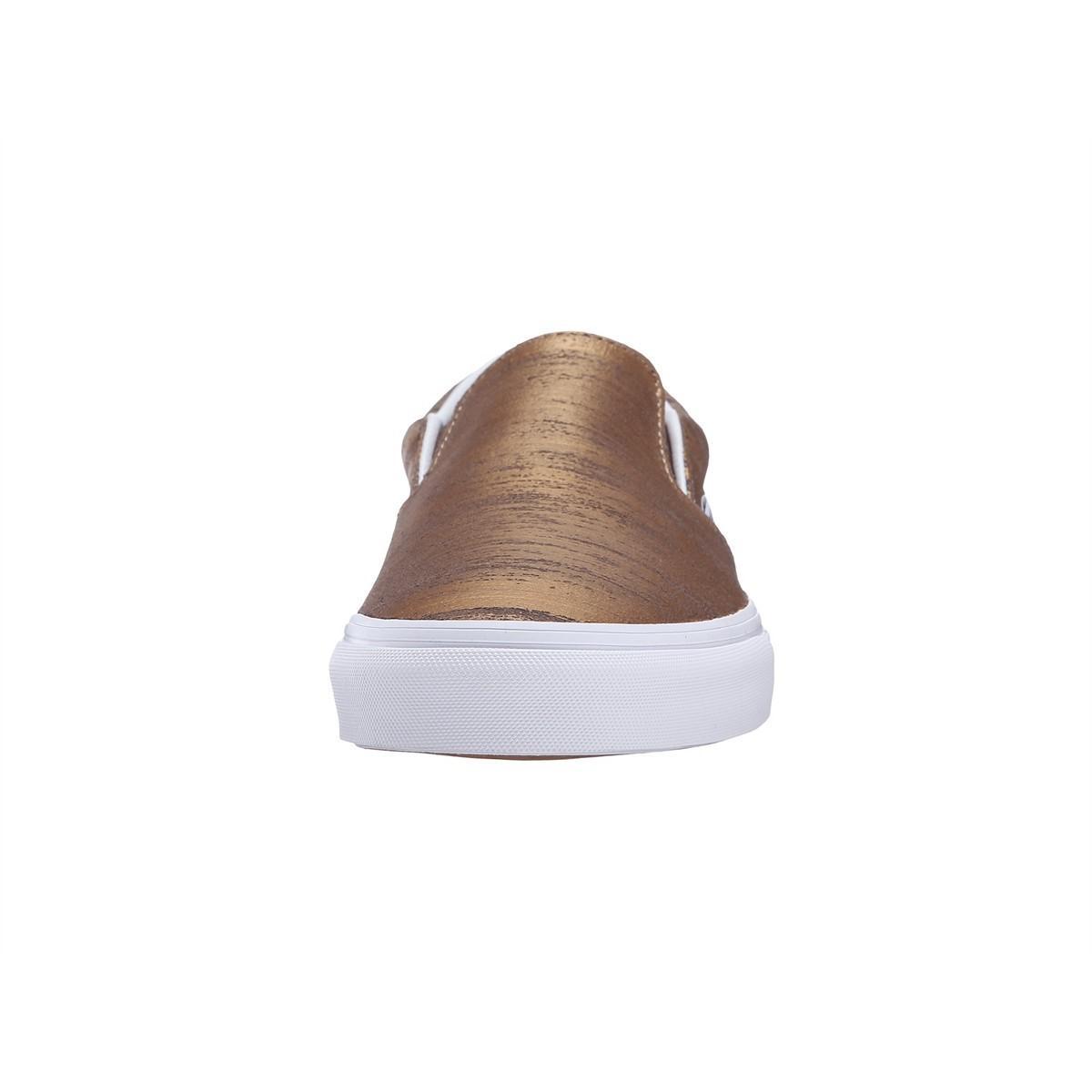 43e4e59a64 Lyst - Vans Men Brushed Metallic Classic Slip On Shoes in Metallic ...
