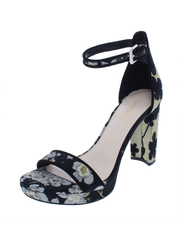 fe411c4cd18f Lyst - Nine West Dempsey Ankle Strap Dress Sandals in Metallic
