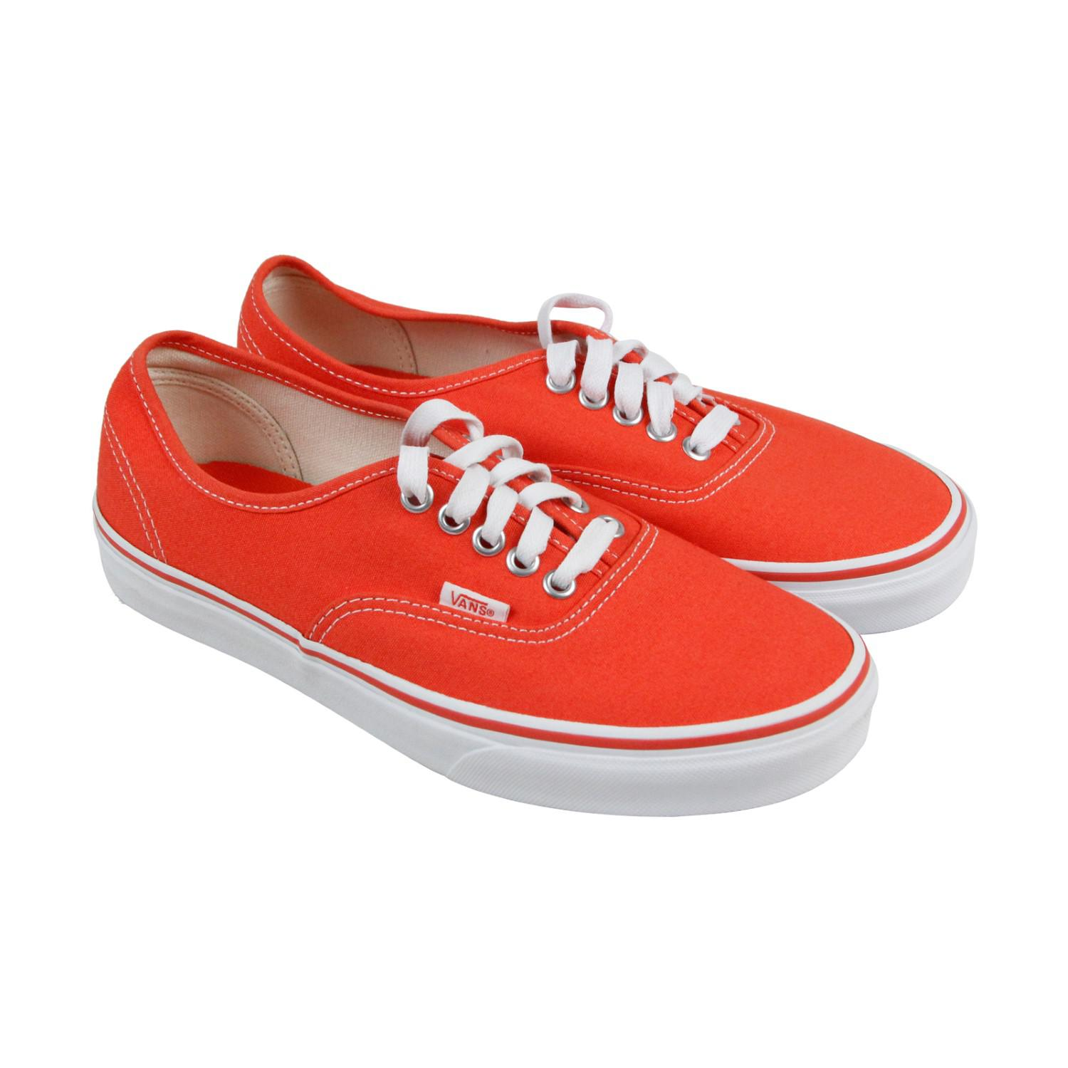 7b06f029b8 Lyst - Vans Authentic Cherry Tomato True White Mens Lace Up Sneakers ...