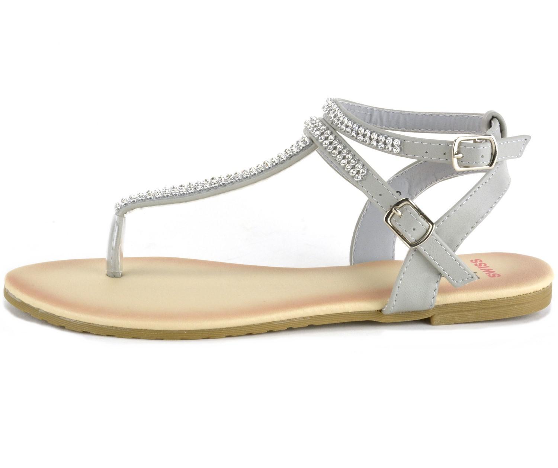 ac4ff0d3b8529a Lyst - Alpine Swiss Gladiator Sandals T-strap Slingback Roman ...
