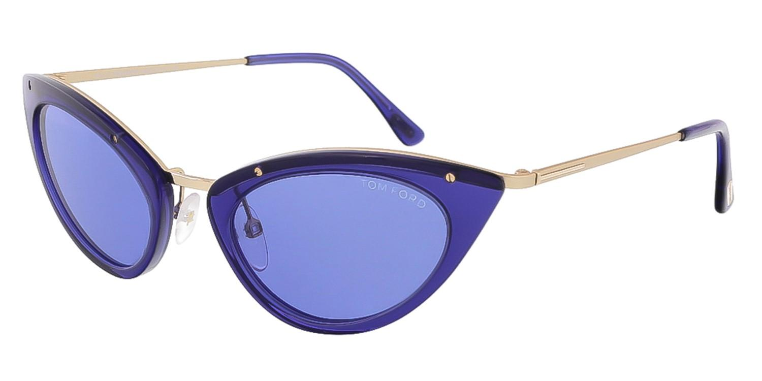 afb09579ba4f2 Lyst - Tom Ford Grace Cat Eye Sunglasses in Blue - Save 25%