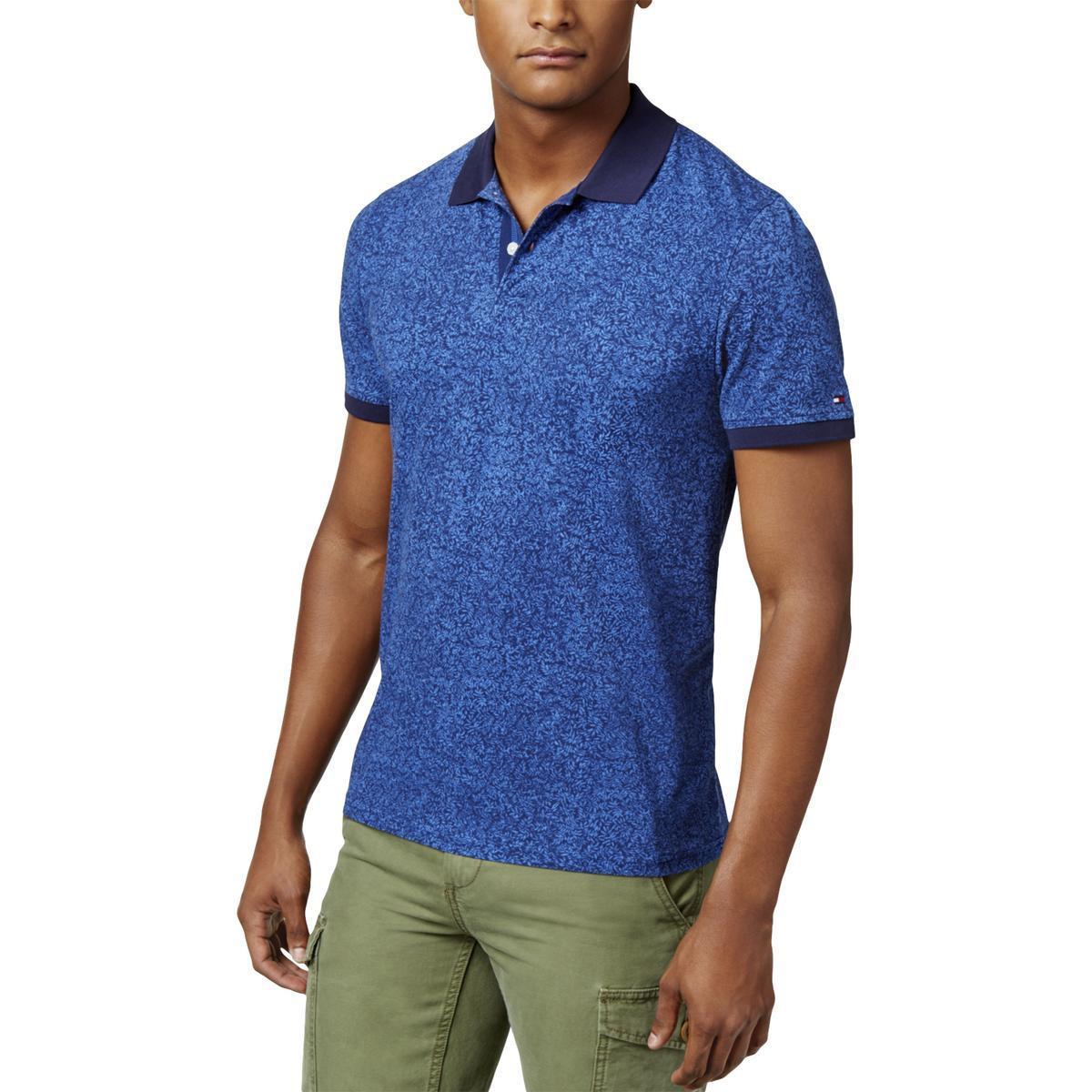 6cda8b3e Lyst - Tommy Hilfiger Custom Fit Short Sleeve Polo Shirt in Blue for Men