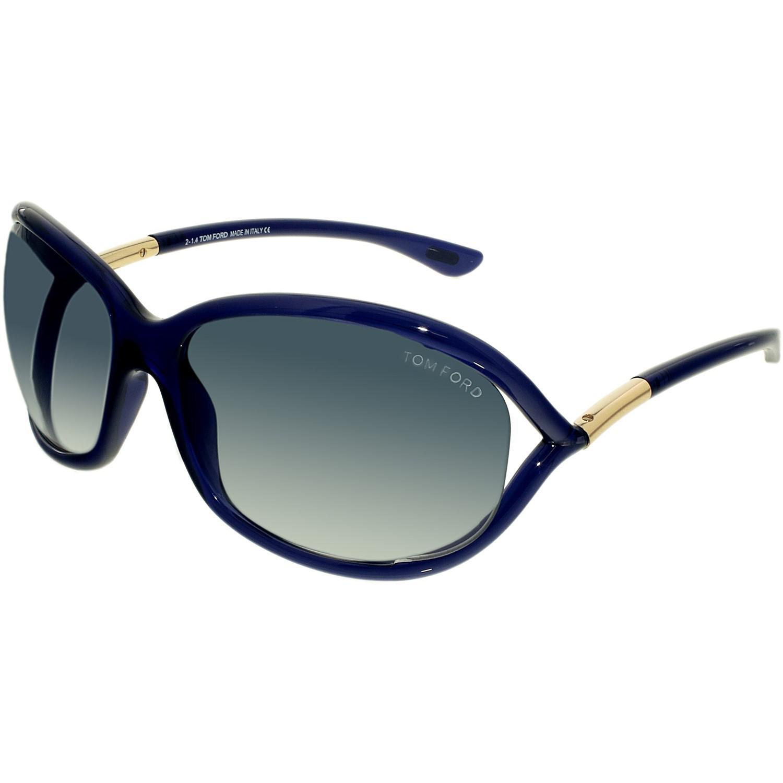 e519ebdbf76b Lyst - Tom Ford Jennifer Ft0008-90w-61 Blue Oval Sunglasses in Blue