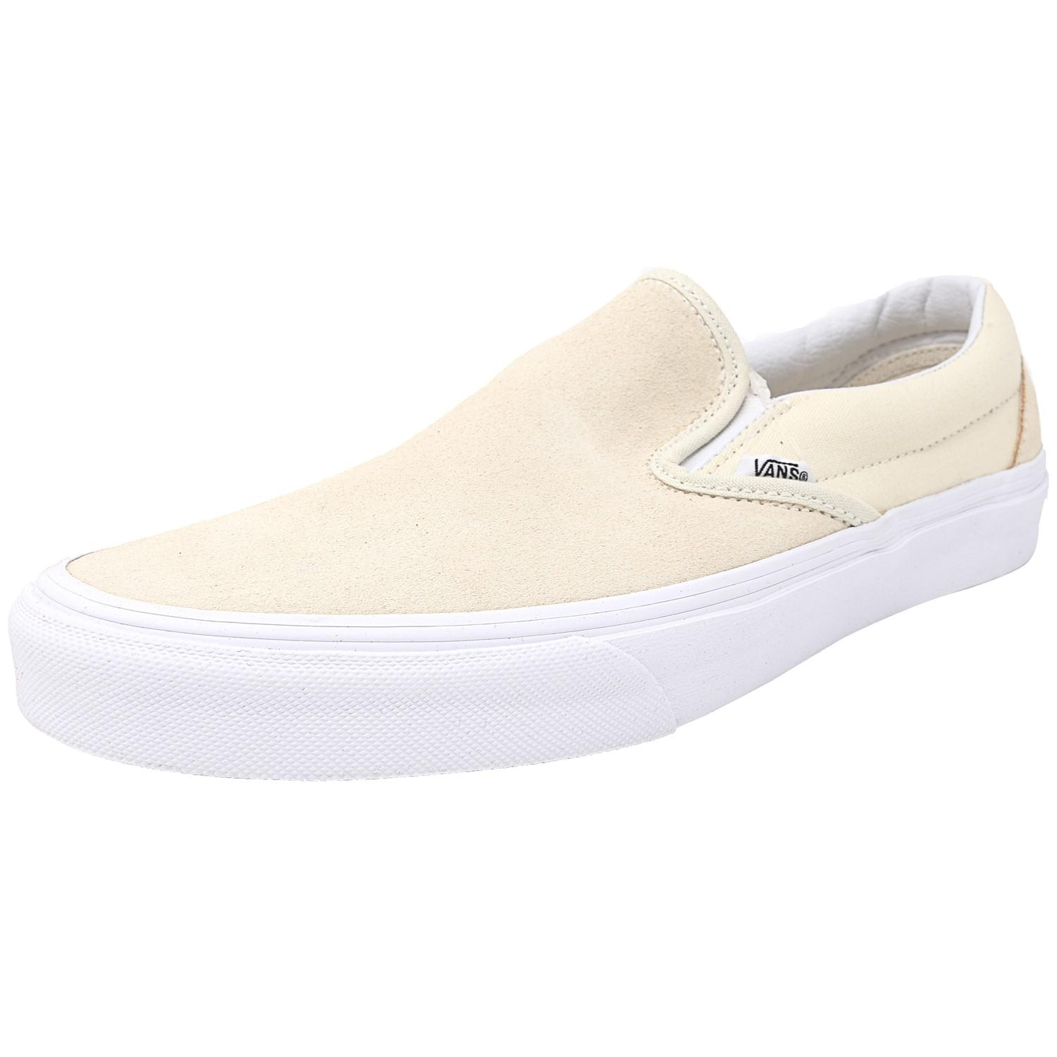 6d5fdd943f Lyst - Vans Classic Slip-on Suede And Canvas Afterglow   True White ...