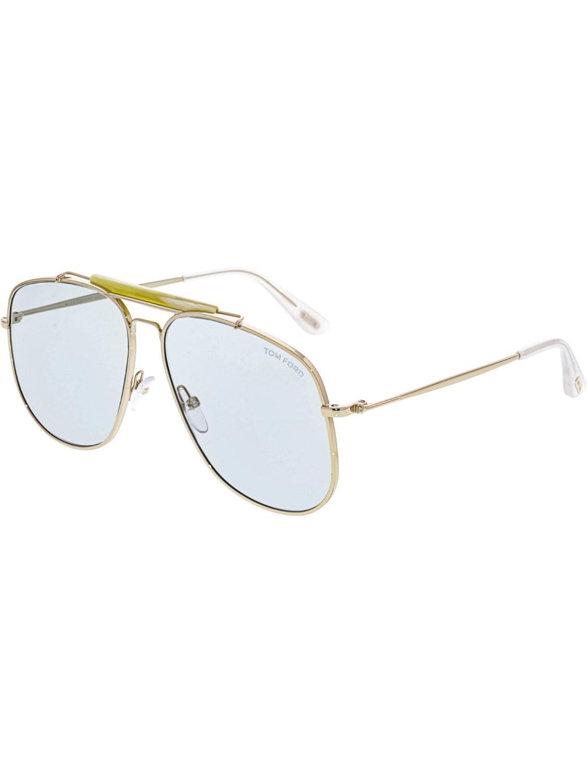ff09da50138 Lyst - Tom Ford Connor Ft0557-28v-58 Aviator Sunglasses in Metallic