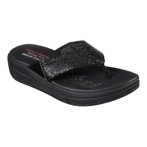 e992ff53e57d Lyst - Skechers Relaxed Fit Upgrades Stone Cold Thong Sandal in Black