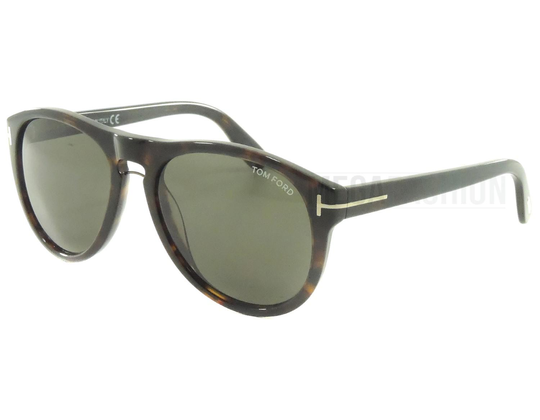 b1655a3f5ab1 Lyst - Tom Ford Sunglasses Shiny Black Dark Green Lens Plastic Tf ...