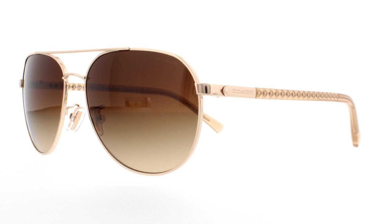 14cd6eb5eb Lyst - COACH Hc7053 L137 Sunglasses Light Gold  Crystal Lt ...