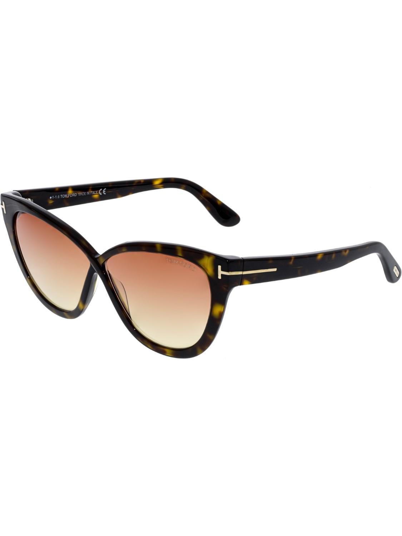 7df2fc05e81a Lyst - Tom Ford Arabella Cat Eye Sunglasses in Brown