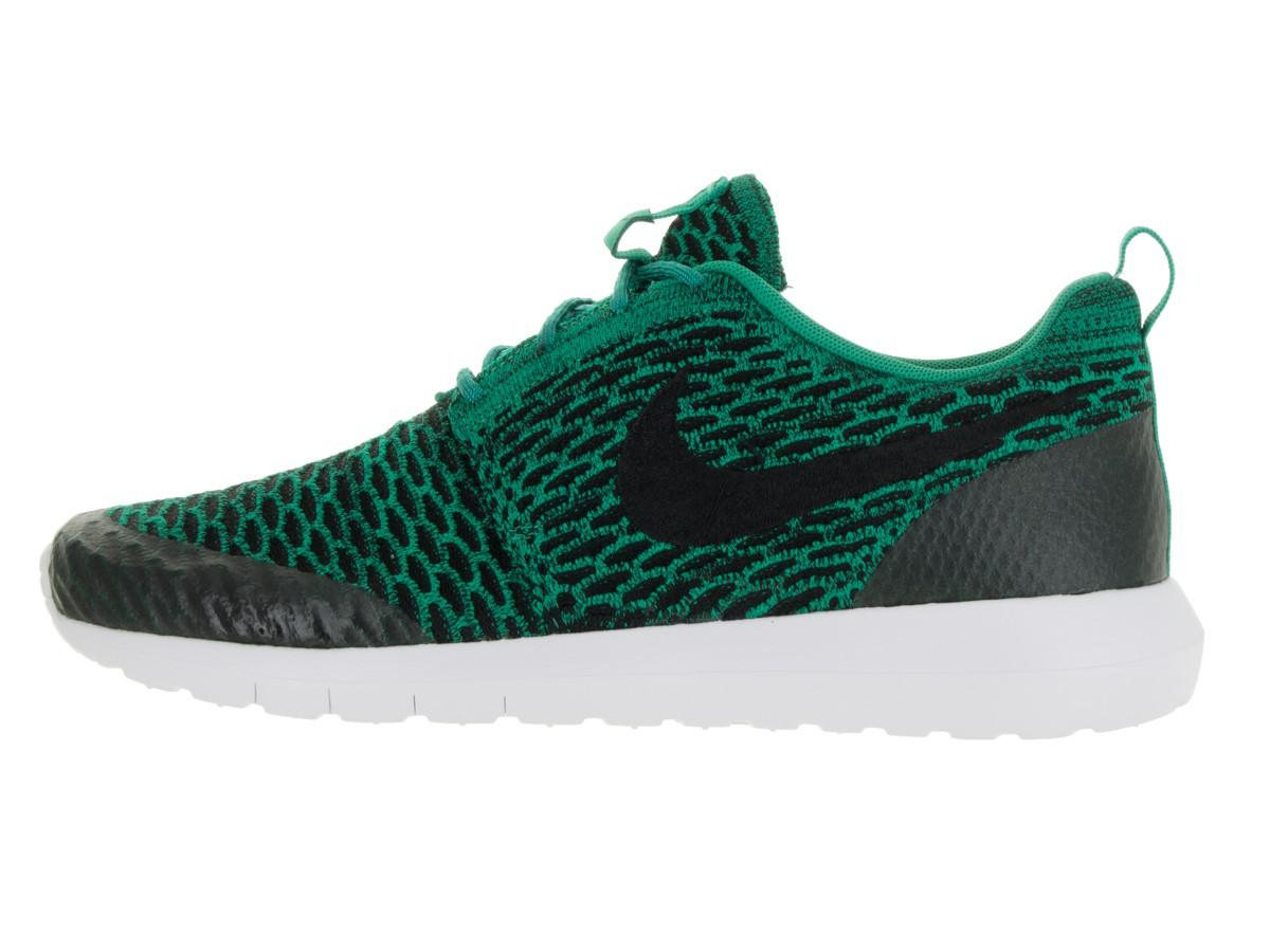 competitive price bbc01 eb8d4 Lyst - Nike Roshe Nm Flyknit Se Lucid Green black white Running Shoe ...