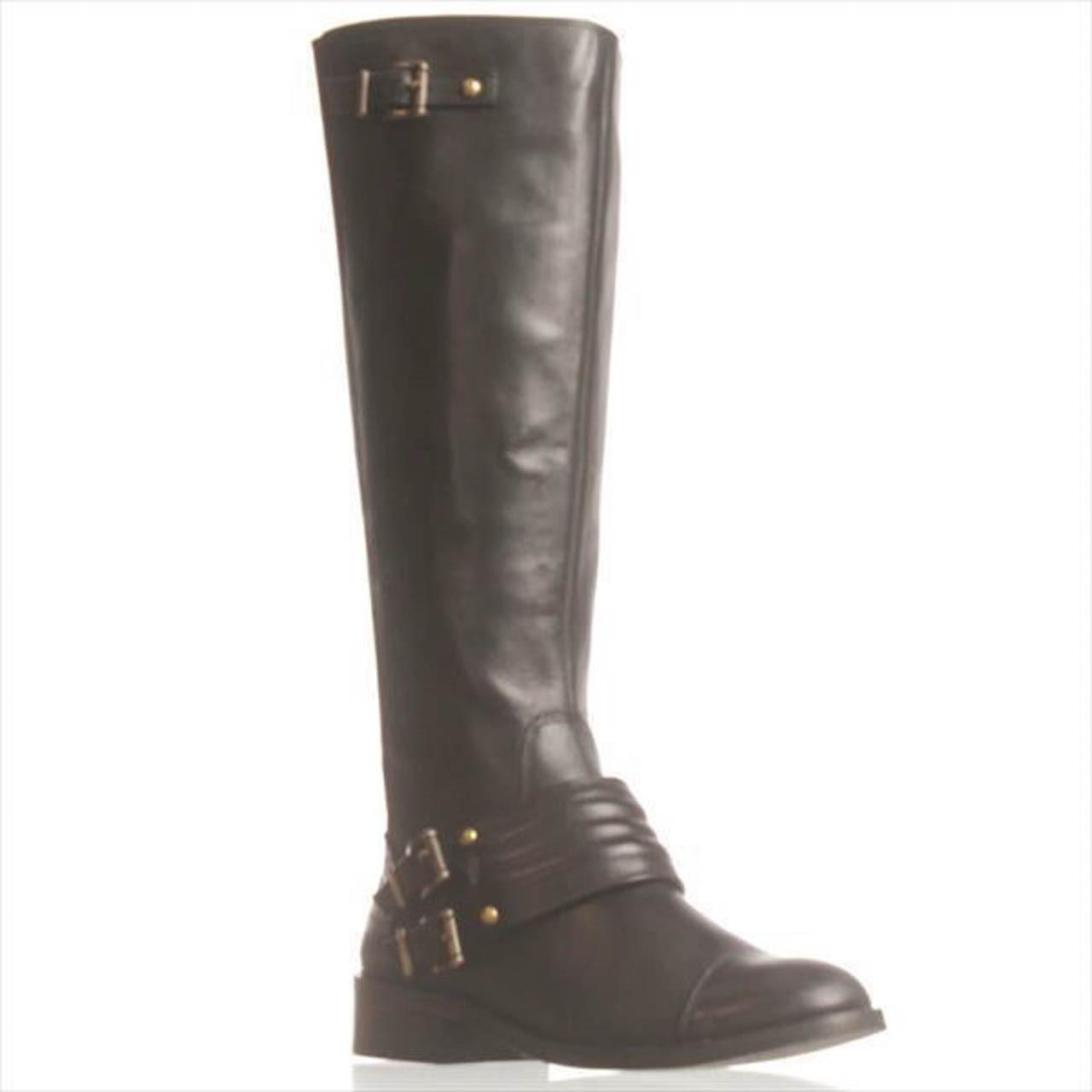 b0a773589766 Lyst - Jessica Simpson Elmont2 Wide Calf Riding Boots - in Black