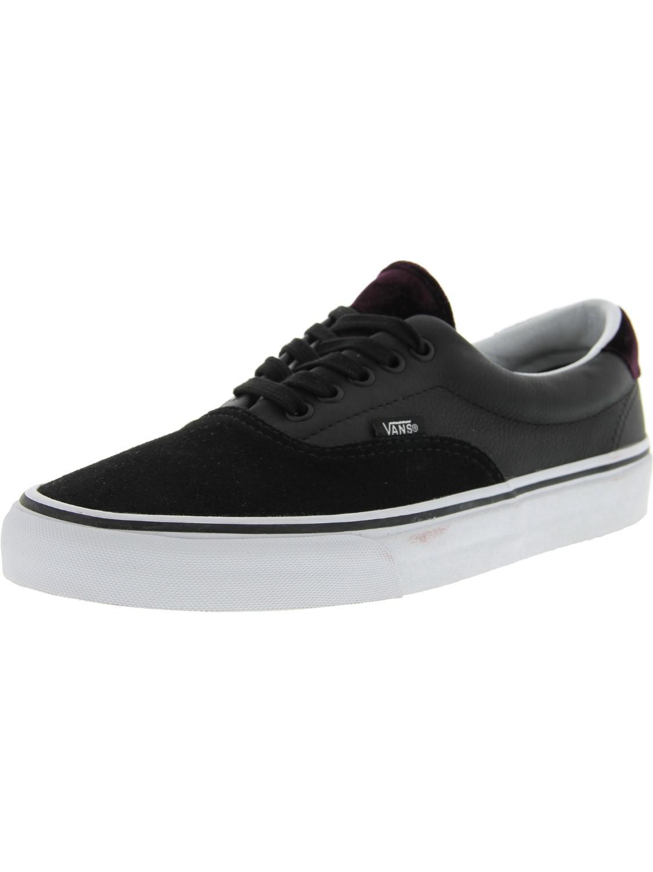 Lyst - Vans Era 59 Velvet Ankle-high Fashion Sneaker - 11m in Black ... 15158ddfa80
